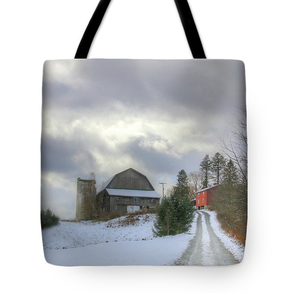 A Touch Of Snow Tote Bag by Sharon Batdorf
