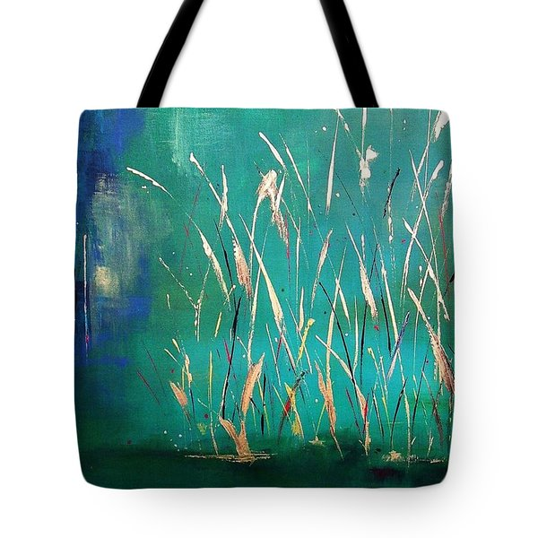 A Touch Of Teal Tote Bag by Frances Marino