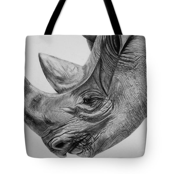 Rhinoceros - A Peaceful Giant Tote Bag