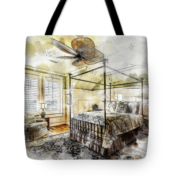 A Traditional Bedroom Tote Bag