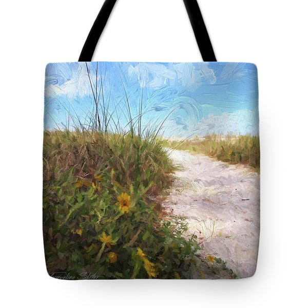 A Trail To The Beach Tote Bag