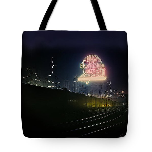 A Train's A Comin' 1948 Tote Bag