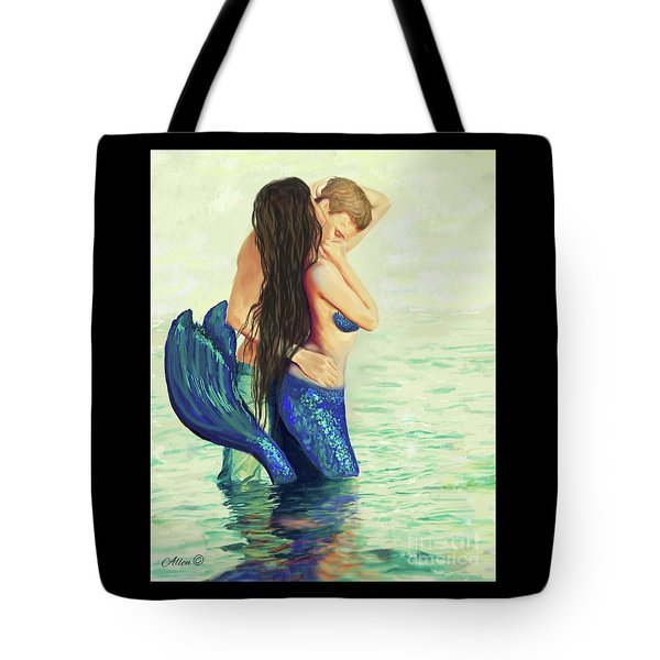 Tote Bag featuring the painting A Treasured Love by Leslie Allen