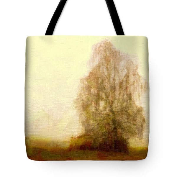 Tote Bag featuring the painting A Tree by Chris Armytage