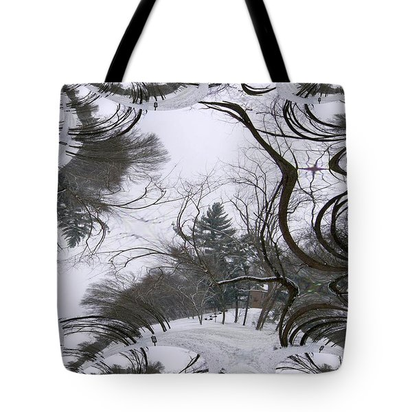 Tote Bag featuring the digital art A Tree Fractal by Skyler Tipton