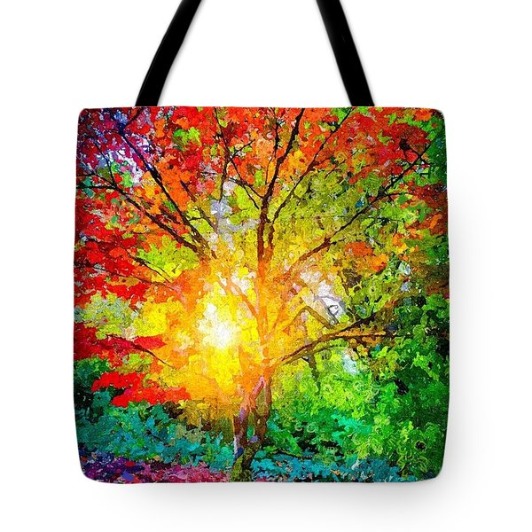 A Tree In Glory Tote Bag