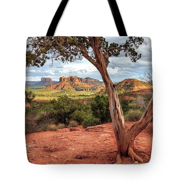 A Tree In Sedona Tote Bag