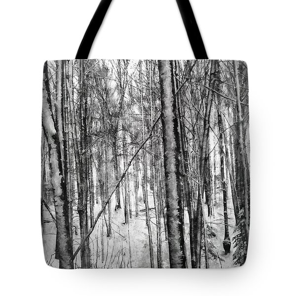 A Tree's View In Winter Tote Bag