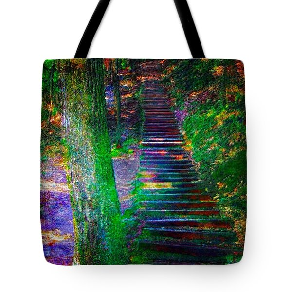 A Trek Tote Bag by Iowan Stone-Flowers