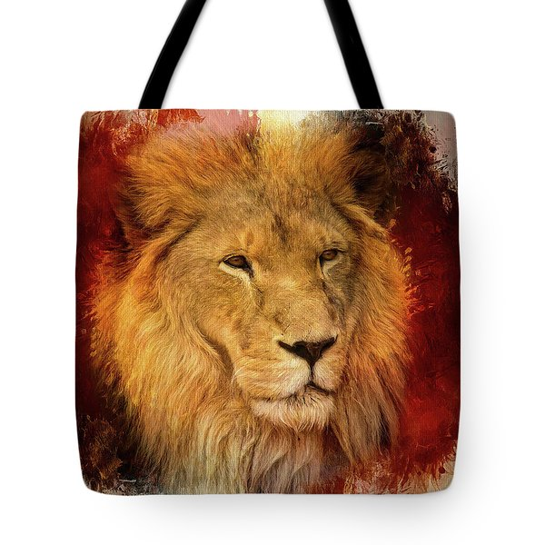 Tote Bag featuring the mixed media A Tribute To Asante by Teresa Wilson