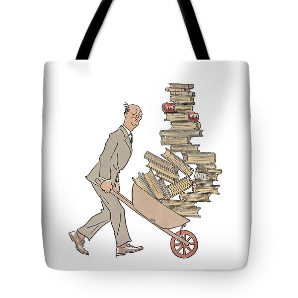 A Trip To The Library Tote Bag by Richard Reeve