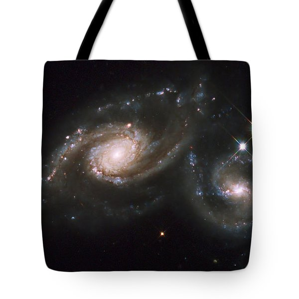 A Triplet Of Galaxies Known As Arp 274 Tote Bag by Stocktrek Images