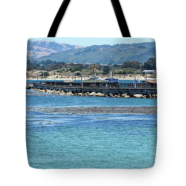 A Tropical Day At The Monterey Coast Guard Pier Tote Bag