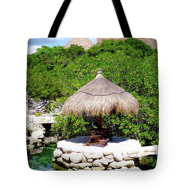 Tote Bag featuring the photograph A Tropical Place To Relax by Francesca Mackenney