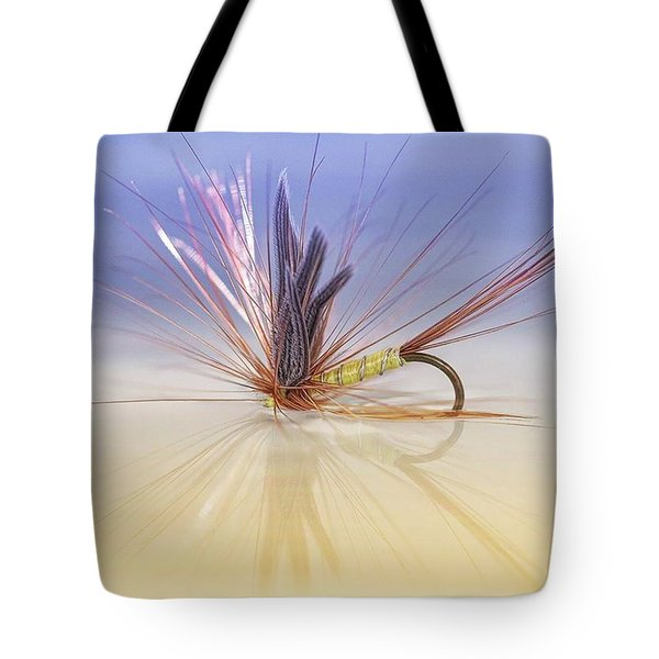 A Trout Fly (greenwell's Glory) Tote Bag by John Edwards