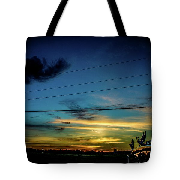A Trucker's View Tote Bag