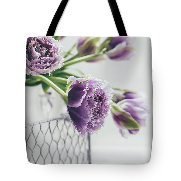 Tote Bag featuring the photograph A Tulip Moment by Kim Hojnacki