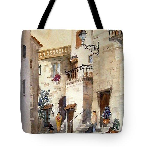 A Tuscan Street Scene Tote Bag