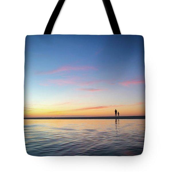 A Twilight Beach Walk Tote Bag