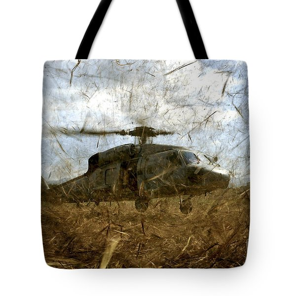 A U.s. Navy Hh-60 Seahawk Stirs Tote Bag by Stocktrek Images