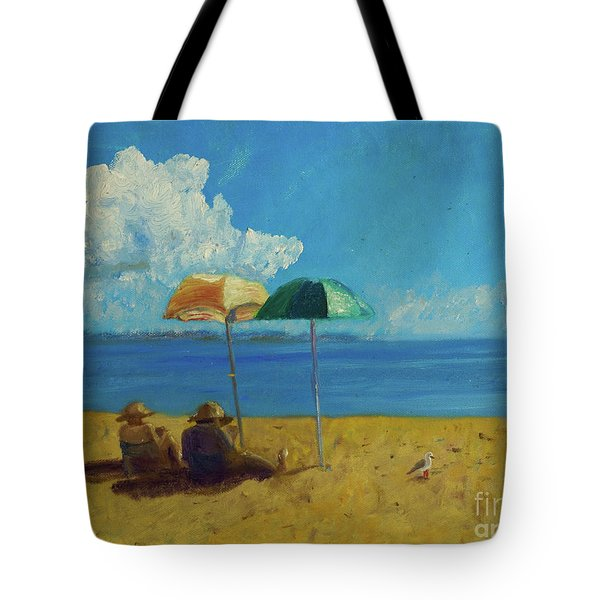 Tote Bag featuring the painting A Vacant Lot - Byron Bay by Paul McKey