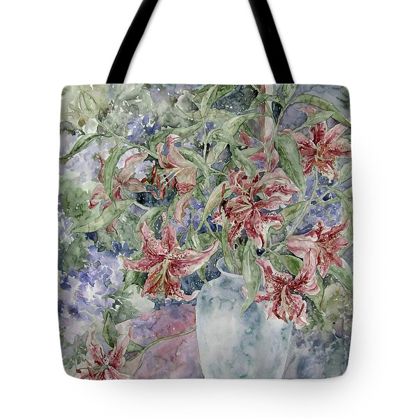 A Vase Of Lilies Tote Bag