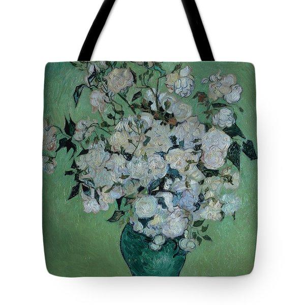 A Vase Of Roses Tote Bag by Vincent van Gogh