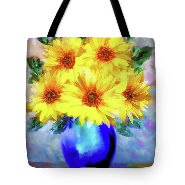 A Vase Of Sunflowers Tote Bag