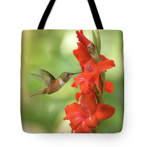 A Very Glad Hummingbird Tote Bag