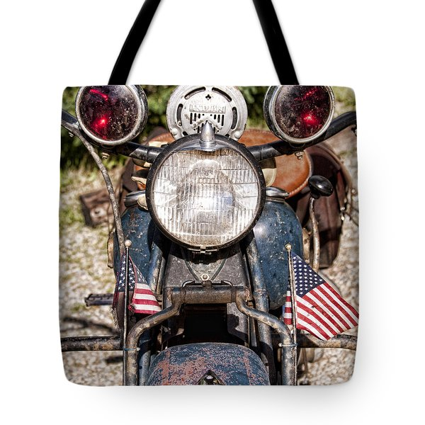 A Very Old Indian Harley-davidson Tote Bag