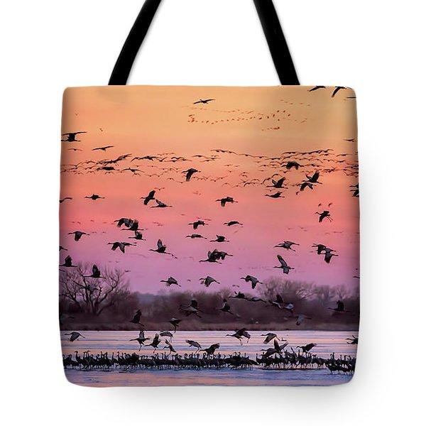 A Vibrant Evening Tote Bag