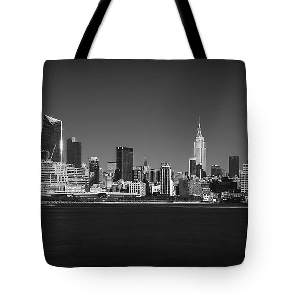 A View From Across The Hudson Tote Bag by Eduard Moldoveanu