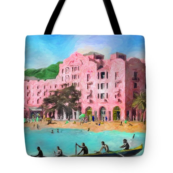 A View From Canoes Tote Bag