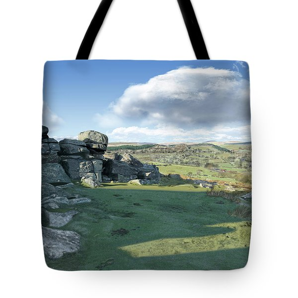 A View From Combestone Tor Tote Bag