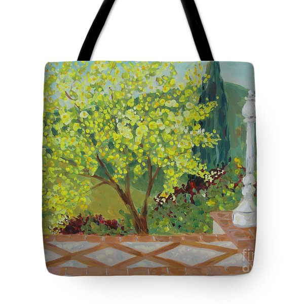 A View From Hearst Castle Tote Bag