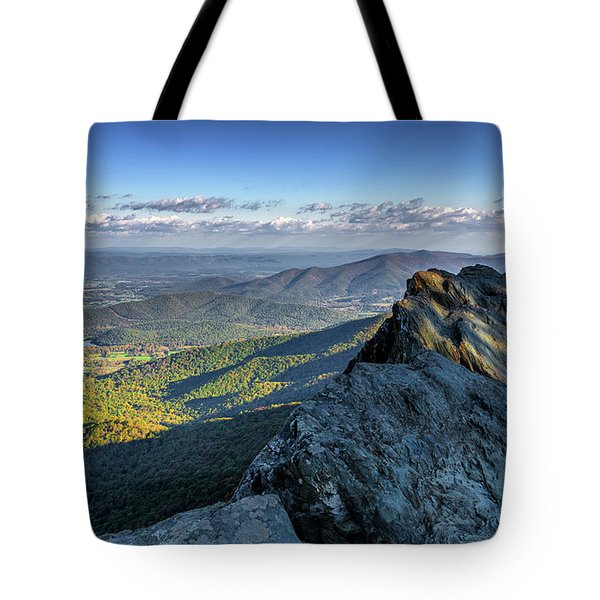 Tote Bag featuring the photograph A View From The Cliffs by Lori Coleman