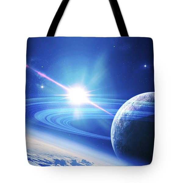 A View Of A Planet As It Looms In Close Tote Bag by Kevin Lafin
