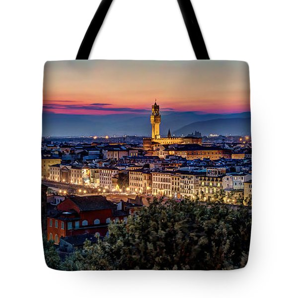 Tote Bag featuring the photograph A View Of Florence by Brent Durken