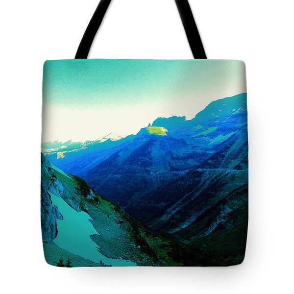 A View Of Logan Pass Tote Bag