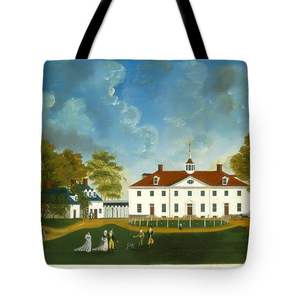 A View Of Mount Vernon Tote Bag