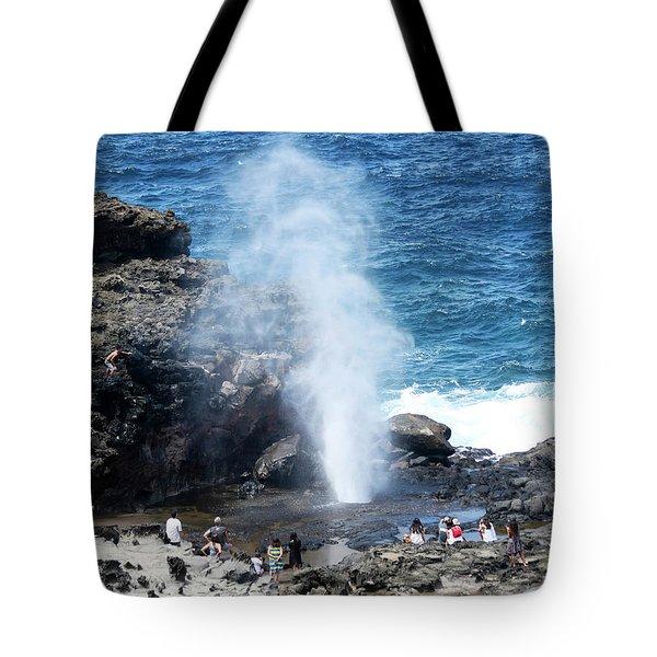 A View Of Nakalele Point Blowhole, Maui, Hawaii Tote Bag