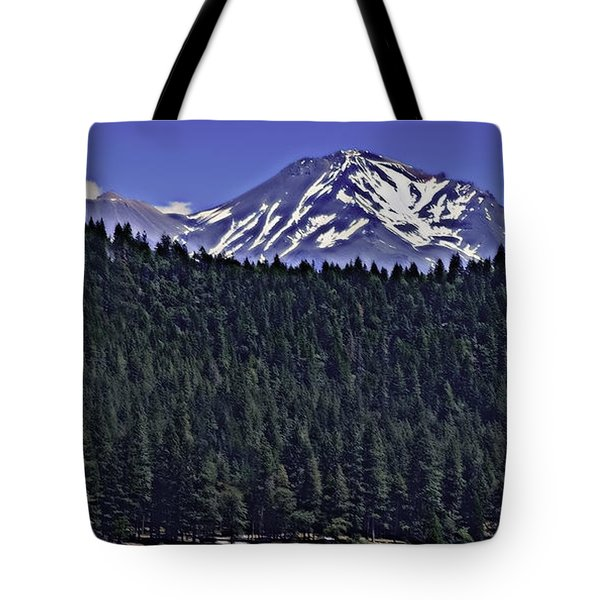 A View Of Shasta Tote Bag
