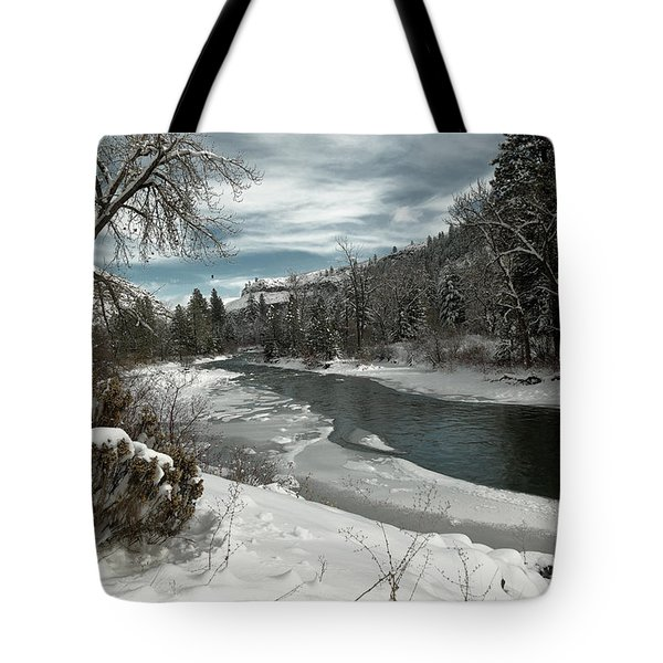 A View Of The Tieton River Tote Bag