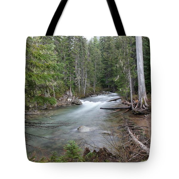 A View Of The American River Tote Bag