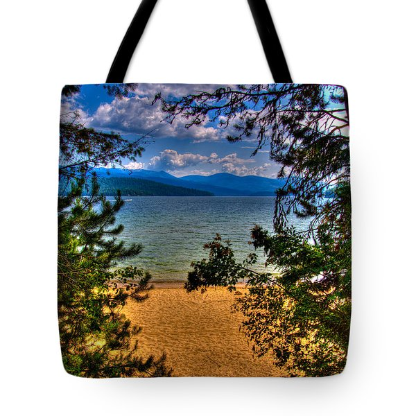 A View Of The Lake Tote Bag by David Patterson