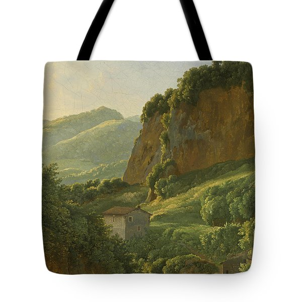 A View Of The Monastery Of San Cosimato To The North Of Rome Tote Bag
