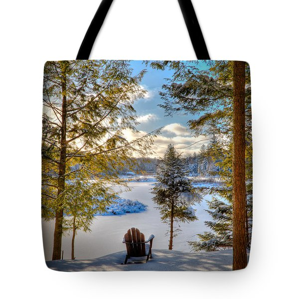 A View Of The Moose Tote Bag