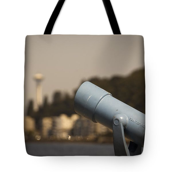 Tote Bag featuring the photograph A View Of The Needle by Erin Kohlenberg