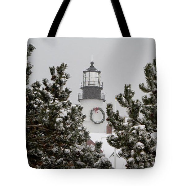 A View Of The Portland Head Light Tote Bag