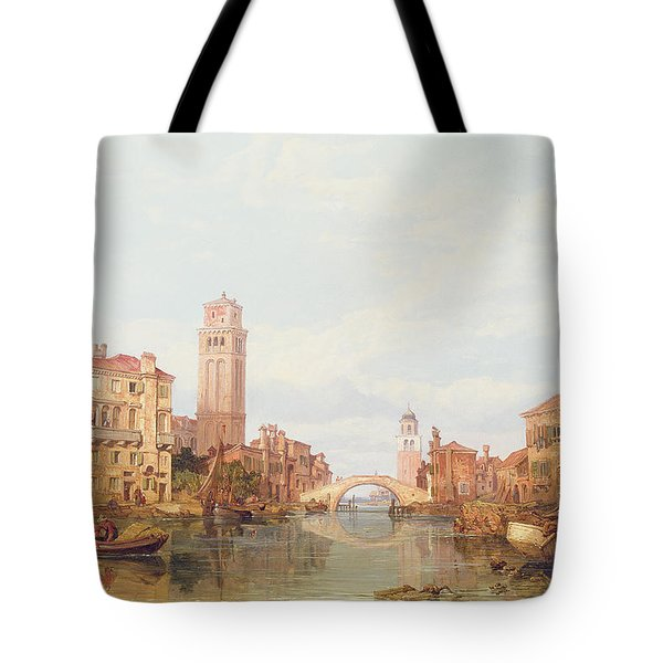 A View Of Verona Tote Bag by George Clarkson Stanfield